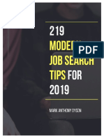 219 Modern Job Search Tips for 2019