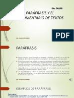 LA PARÁFRASIS Y EL COMENTARIO.ppt