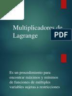 multiplicadores de Lagrange.ppt