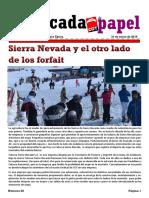 Barricada de Papel - Sierra Nevada - Cetursa