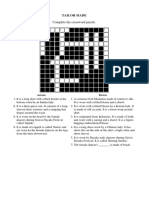 Unit 11_tailor Made Crossword Puzzle Pg 104,105,106
