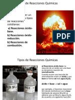 Presentacion 9 Tipos de Reacciones Quimicas