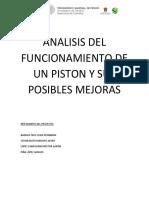 Analisis Del Funcionamiento de Un Piston y Sus Posibles Mejoras