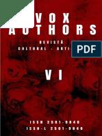 Nr. VI al revistei cultural-artistice Vox Authors