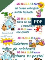 Actividades Infantiles Balneario Sicilia y Balneario Serón Todos Los Santos