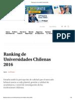 Ranking de Universidades Chilenas 2016