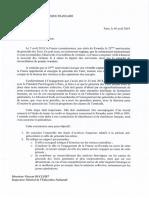 La lettre de mission de Vincent Duclert