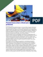Panamá Busca Atraer a Brasil Para Reexportar Productos