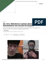 Ao Vivo_ Atiradores Matam Alunos e Funcionários Em Escola de Suzano _ VEJA.com