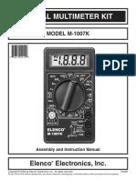 Digital Multimeter DT830B schematic diagram