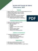 Resumen Ejecutivo Del Consejo de Líderes - Marzo 2019