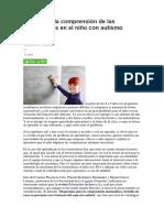 Mejorando La Comprensión de Las Matemáticas en El Niño Con Autismo