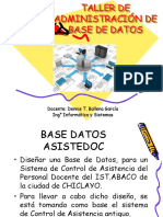 Base de Datos Asistedoc
