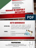 Normas de Asepsia y Antisepsia