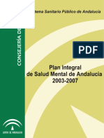Plan Integral Salud Mental 2003-07