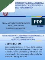 Reglameto de Construccion Art. 137-145