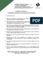 Material Didáctico # 2 (Álgebra Vectorial - Rectas y Planos)