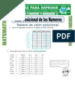 Ficha Valor Posicional Para Tercero de Primaria