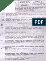 9th Class English Compulsory 2018 Lahore Board Group 1 Subjective