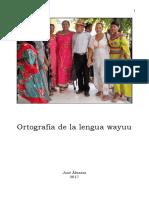 Ortografía de la lengua wayuu