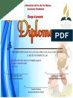 Diploma Escuela Biblica