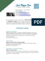 José Mayca Torre - CV - Redactor Creativo Digital 2019
