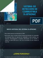 Sistema de Inyección de Combustible D-jetronic