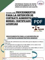 Guía de Procedimientos Para La Obtención de Contrato