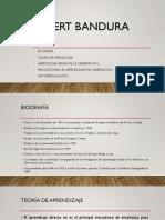 Albert Bandura (estudios de tendencia conductual-cognitiva)