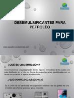 Desemulsificantes Para Petroleo.