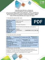 Guía de Actividades y Rúbrica de Evaluación - Fase 3 - Elaborar Análisis DOFA Sobre POMCA de La Region