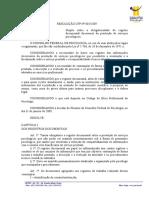 Resolucao2009_01 Registro de Atendimentos - Alterada Pela 05-2010