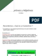 Guía de Sustantivos y Adjetivos 4to básico