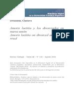 Amoris Laetitia y Los Divorciados en Nueva Unión