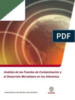 análisis de fuentes de contaminación y el desarrollo de microorganismos