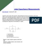 Applications Dictate Capacitance Measurements