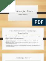 Business Job Index