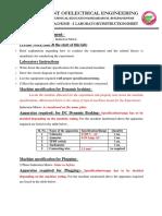 Expt-3 Various Methods of Braking of 3-Ph IM
