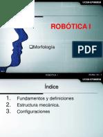 Robotica I - Sesion 2 - Morfologia - V2019