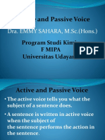 1. Active and Passive Voice