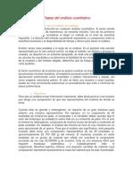 Etapas Del Análisis Cuantitativo.