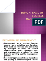 Chapter 4 Basic of Business Management