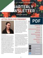 2019 Winter Newsletter