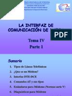 TEMA 4 La interfaz de datos y Modems Parte 1