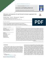 Utilización y propiedades de los agregados de resistencia térmica del camino en la mezcla de asfalto