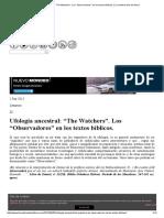 """Ufología ancestral_ """"The Watchers"""". Los """"Observadores"""" en los textos bíblicos.pdf"""