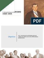 Arturo Alessandri y La Crisis Del Parlamentarismo