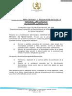 REQUISITOS PARA OBTENER EL RECONOCIMIENTO DE LA PERSONALIDAD JURÍDICA