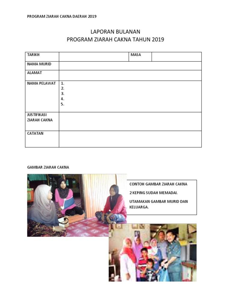 Laporan Bulanan Program Ziarah Cakna Tahun 2019