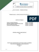 PROYECTO GRUPAL PRIMERA ENTREGA ESTRUCTURA DE DATOS GRUPO 1.docx